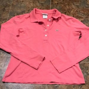 Vintage pink Lacoste long sleeve polo